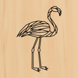 flamingo in hout