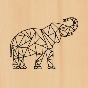 olifant in hout