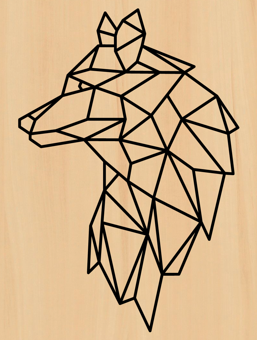 wolf in hout